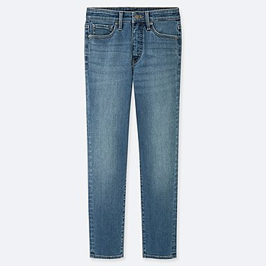 WOMEN HIGH-RISE SKINNY STRAIGHT ANKLE JEANS (EXTENDED LENGTH) (ONLINE EXCLUSIVE), BLUE, medium