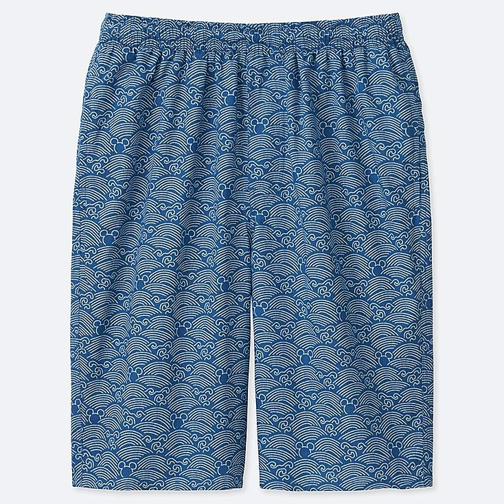 MEN MICKEY BLUE LIGHT COTTON EASY SHORTS, BLUE, large