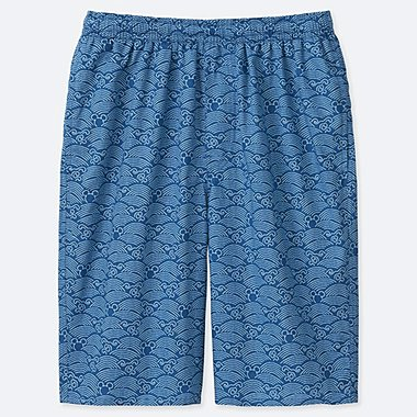 MEN MICKEY BLUE LIGHT COTTON EASY SHORTS, BLUE, medium