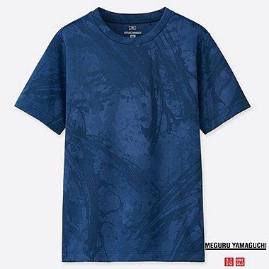 KIDS DRY-EX MEGURU YAMAGUCHI CREW NECK T-SHIRT, BLUE, medium