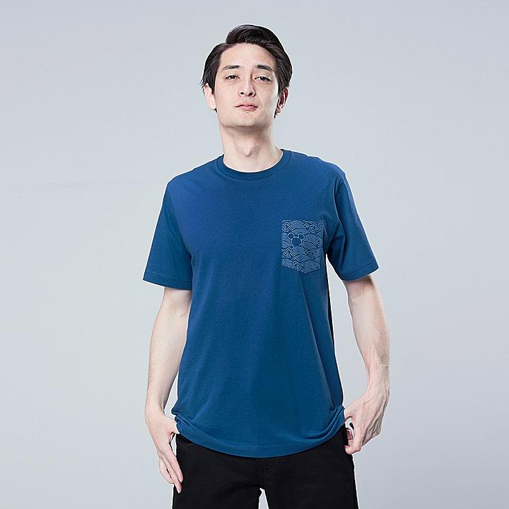 MICKEY BLUE UT (SHORT-SLEEVE GRAPHIC T-SHIRT), BLUE, large