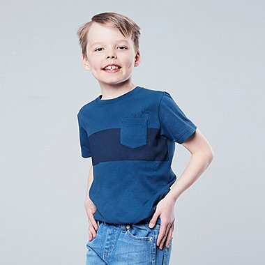 KIDS MICKEY BLUE SHORT-SLEEVE GRAPHIC T-SHIRT, BLUE, medium