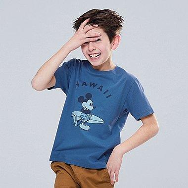 KIDS MICKEY BLUE SHORT-SLEEVE GRAPHIC T-SHIRT, BLUE, medium