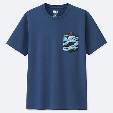 MOBILE SUIT GUNDAM 40TH ANNIVERSARY SHORT-SLEEVE GRAPHIC T-SHIRT, BLUE, medium