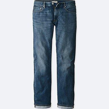 MEN REGULAR FIT STRAIGHT JEANS (SELVEDGE), BLUE, medium