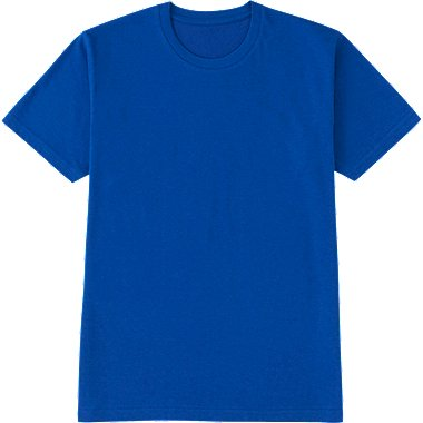 MEN PACKAGED DRY CREW NECK SHORT SLEEVE T-SHIRT, BLUE, medium