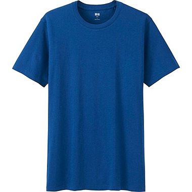 Men Supima® Cotton Crew Neck T-Shirt, BLUE, medium