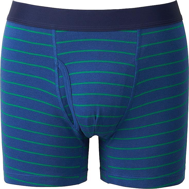 Men's Supima® Cotton Striped Boxer Briefs, BLUE, large