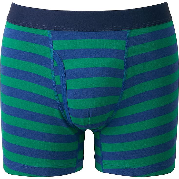 Men Supima® Cotton Striped Boxer Briefs, BLUE, large