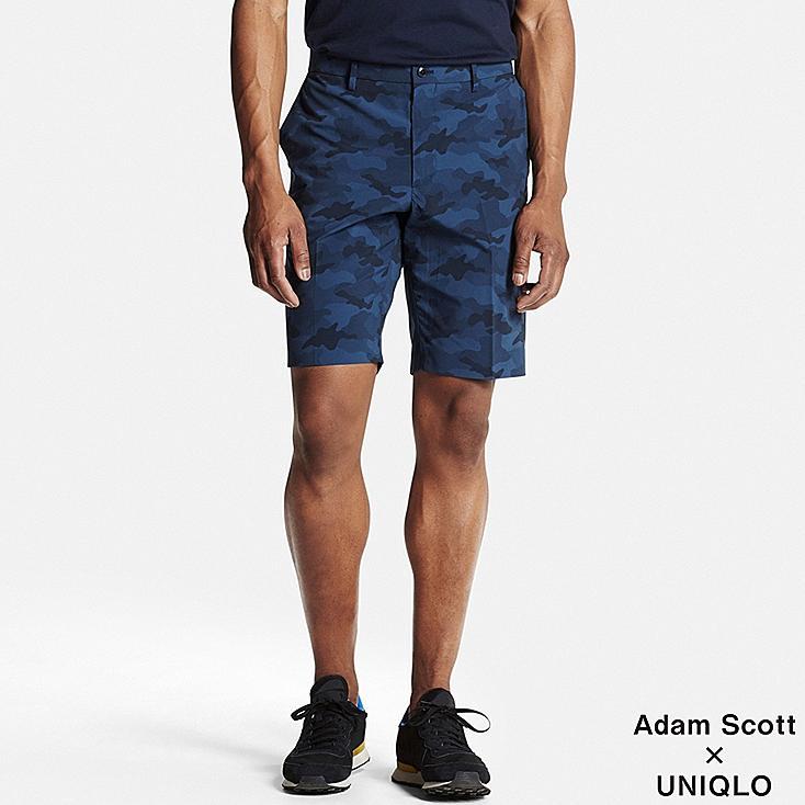 Men DRY Stretch Active Shorts, BLUE, large
