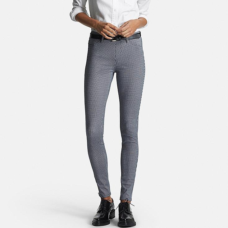 Women's Printed Leggings, BLUE, large