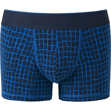 MEN Supima® COTTON BOXER BRIEFS (LOW RISE), BLUE, medium