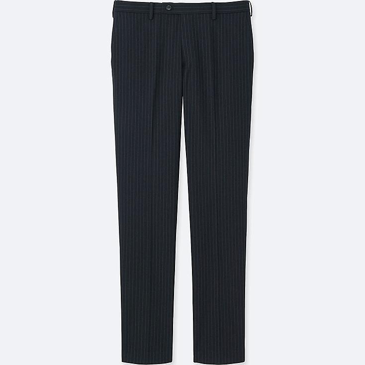 MEN HEATTECH STRETCH SLIM FIT FLAT FRONT PANTS, BLUE, large