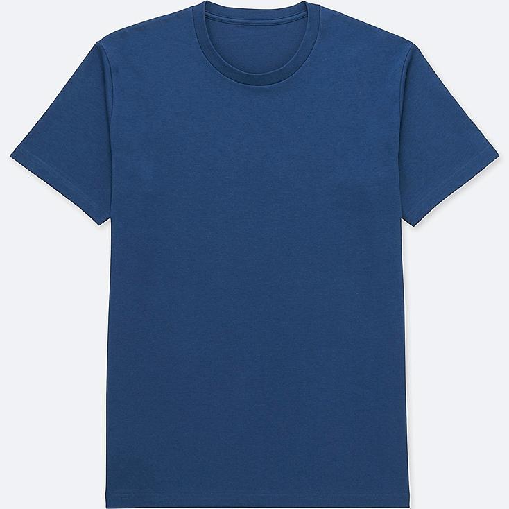 MEN PACKAGED DRY CREWNECK SHORT-SLEEVE T-SHIRT, BLUE, large