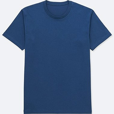 MEN PACKAGED DRY CREWNECK SHORT-SLEEVE T-SHIRT, BLUE, medium