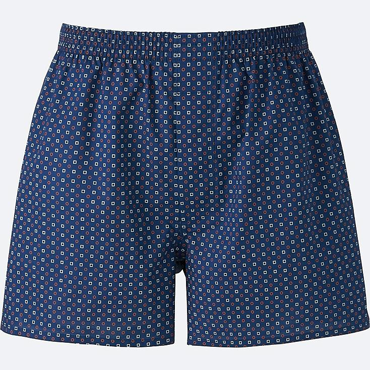 MEN WOVEN PRINTED TRUNKS, BLUE, large