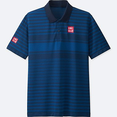 MEN NK DRY-EX SHORT-SLEEVE POLO SHIRT, BLUE, medium