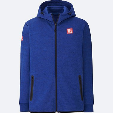MEN Kei Nishikori Dry Stretch Sweat Full-Zip Hoodie 17AUS