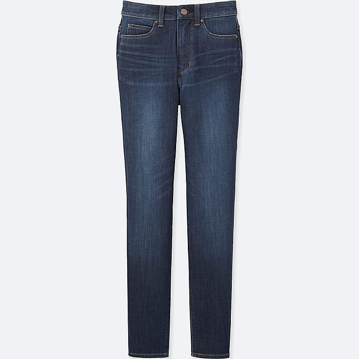 WOMEN ULTRA STRETCH HIGH RISE ANKLE JEANS, BLUE, large
