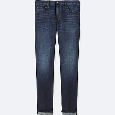 MEN SELVEDGE SKINNY FIT TAPERED JEANS, BLUE, medium