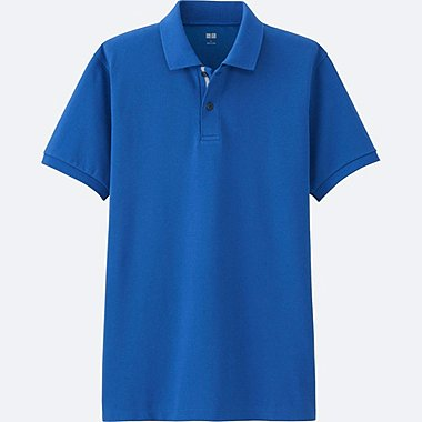 MEN Dry Pique Design Short Sleeve Polo Shirt