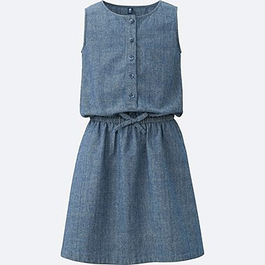 Robe Chambray sans manches FILLE