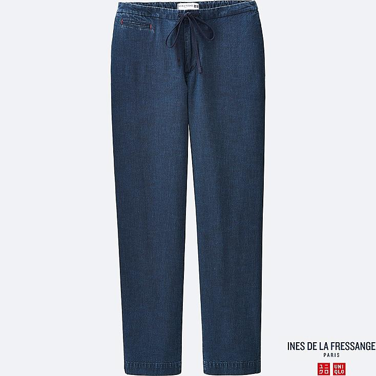 WOMEN IDLF INDIGO RELAXED PANTS, BLUE, large