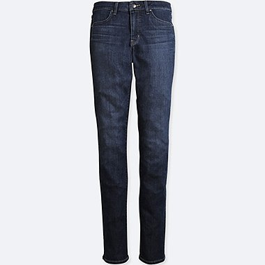 WOMEN HIGH-RISE SLIM-FIT JEANS (ONLINE EXCLUSIVE), BLUE, medium