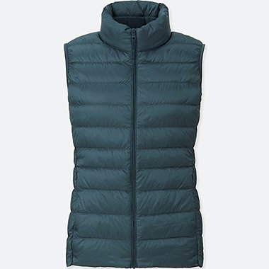 Women Ultra Light Down Vest, BLUE, medium