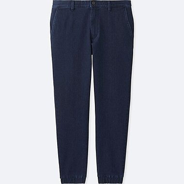 MEN DENIM JOGGER TROUSERS