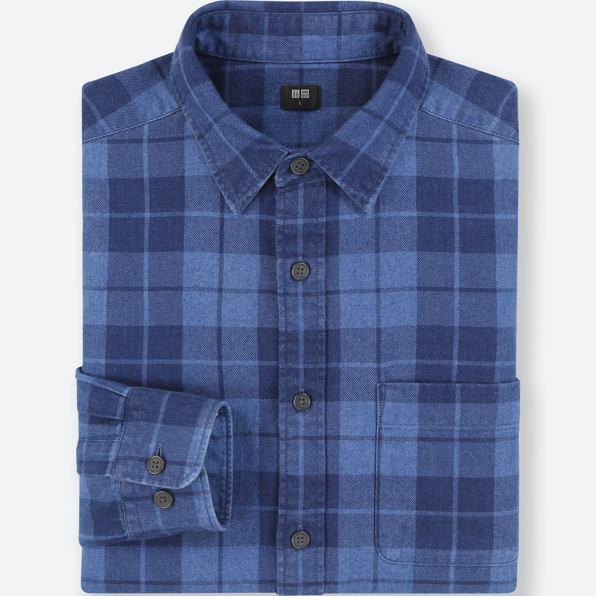 MEN FLANNEL CHECKED LONG-SLEEVE SHIRT | UNIQLO US