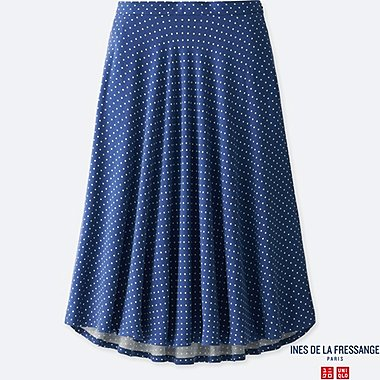 WOMEN INES RAYON FLARED SKIRT