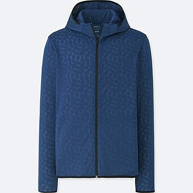 MEN SPRZ NY DRY-EX LONG-SLEEVE ZIP-UP HOODIE (FRANCOIS MORELLET), BLUE, medium