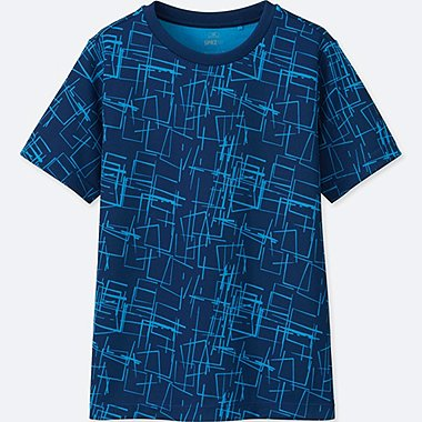 KIDS SPRZ NY DRY-EX SHORT-SLEEVE T-SHIRT (NIKO LUOMA), BLUE, medium