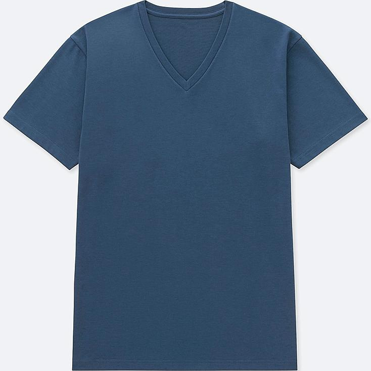 MEN PACKAGED DRY V-NECK SHORT-SLEEVE T-SHIRT, BLUE, large