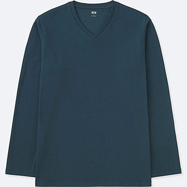 T-SHIRT SOFT-TOUCH COL V HOMME