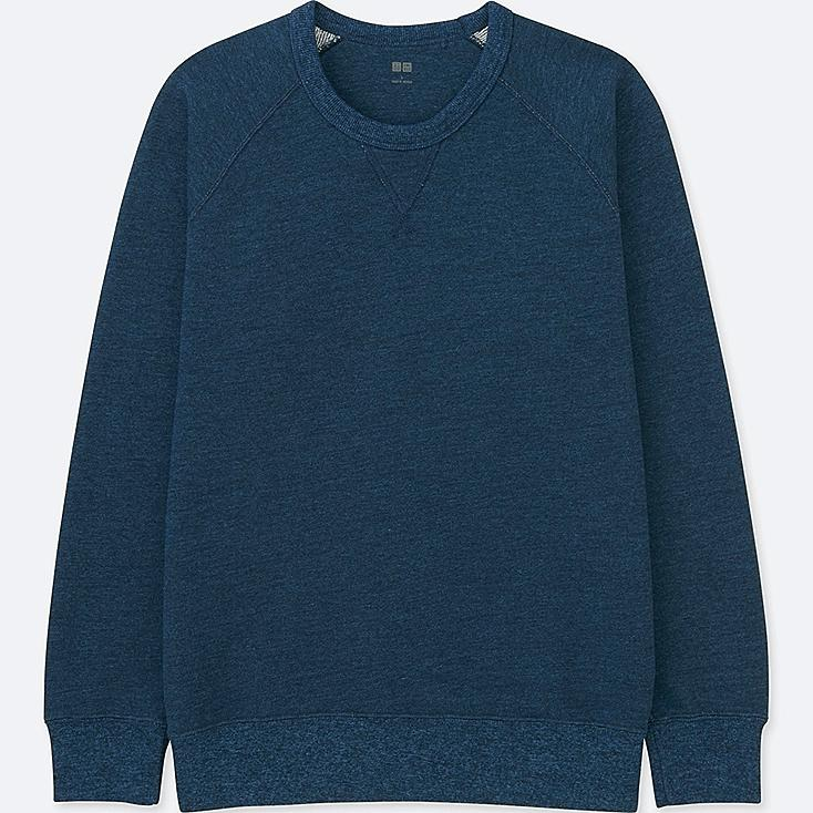MEN LONG-SLEEVE SWEATSHIRT, BLUE, large
