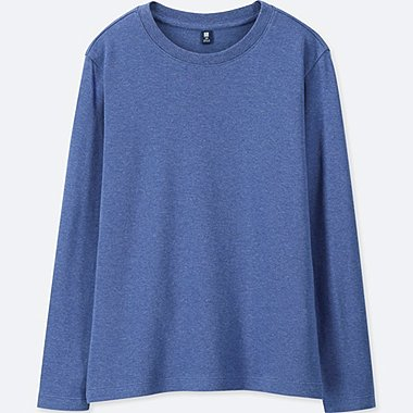 KIDS SOFT COTTON CREW NECK LONG SLEEVED T-SHIRT