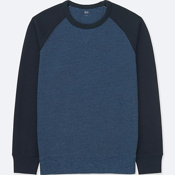 MEN LONG-SLEEVE SWEATSHIRT, BLUE, large