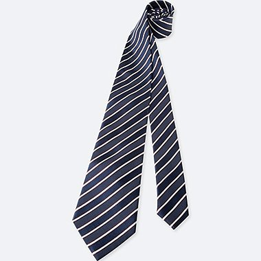 MEN STRIPE TIE, BLUE, medium