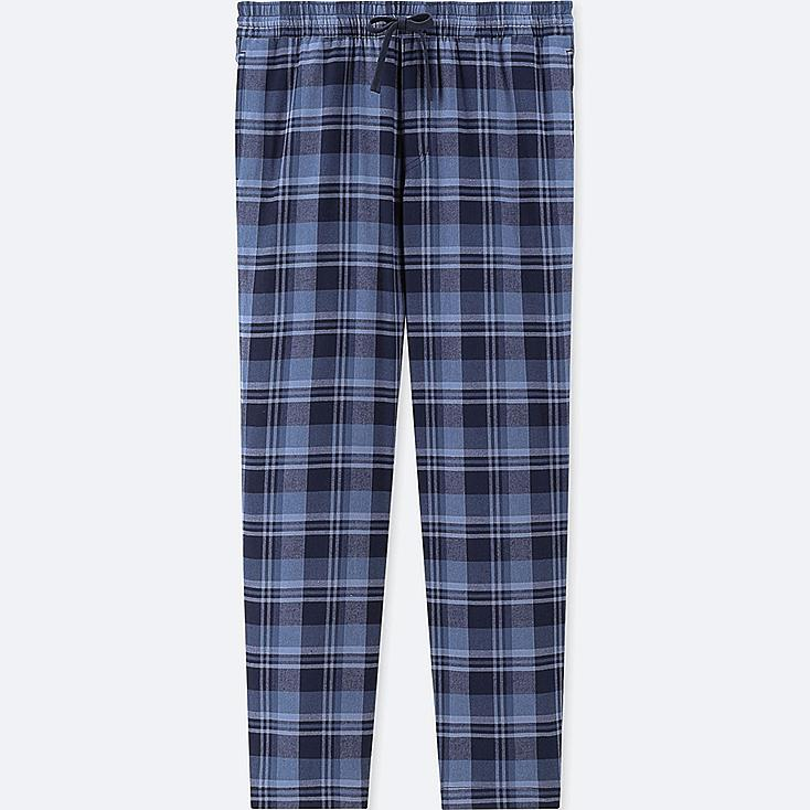 MEN FLANNEL EASY PANTS, BLUE, large