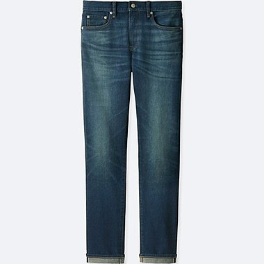 MEN STRETCH SELVEDGE SLIM FIT JEANS, BLUE, medium