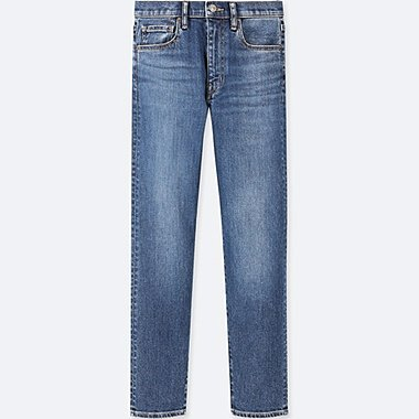WOMEN HIGH-RISE STRAIGHT JEANS, BLUE, medium