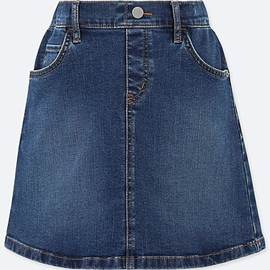 GIRLS DENIM SKIRT, BLUE, medium