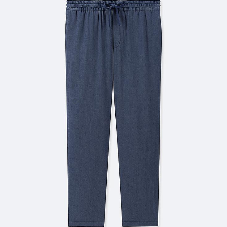 MEN FLANNEL EASY PANTS, BLUE, large