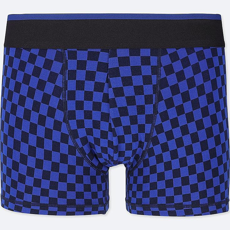 MEN SUPIMA® COTTON LOW-RISE BOXER BRIEFS, BLUE, large