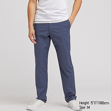 MEN PULL-ON RELAXED PANTS, BLUE, medium