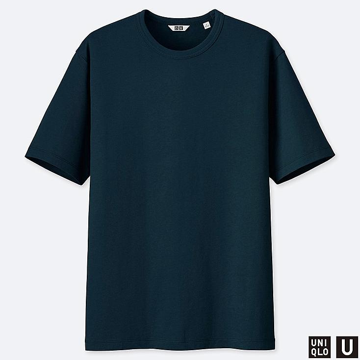 MEN U SUPIMA® COTTON SHORT-SLEEVE T-SHIRT, BLUE, large
