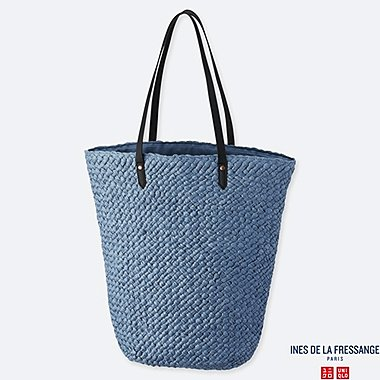 WOMEN CROCHET TOTE BAG (INES DE LA FRESSANGE), BLUE, medium