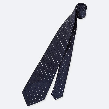MEN SILK DOTTED TIE